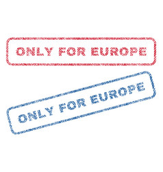 Only for europe textile stamps vector