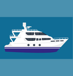 passenger liner in white color isolated on blue vector image