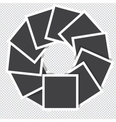 photo frames rotate counter-clockwise isolated on vector image