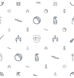 Plastic icons pattern seamless white background vector