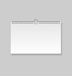 realistic blank calendar vector image
