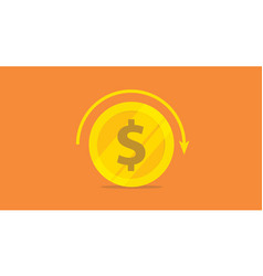 roi return on investment concept with gold money vector image