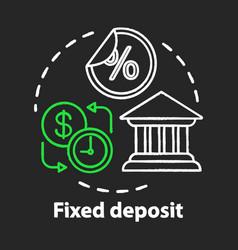 Savings chalk concept icon fixed deposit idea vector