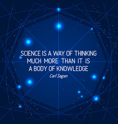 Science quote on space geometric background vector