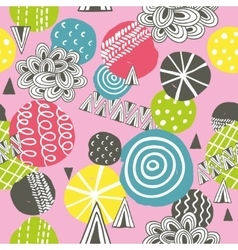 Seamless background in pink colors vector image vector image