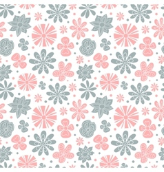 Seamless floral pattern of the colors pink and vector image