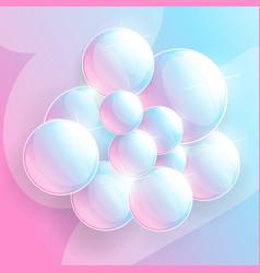 shampoo or soup foam line vector image