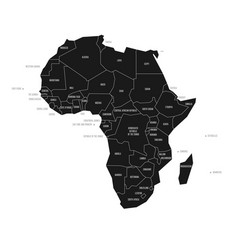 Simplified schematic map of africa vector