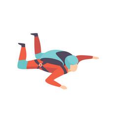 skydiving man falling through air vector image