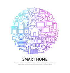 smart home circle concept vector image