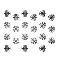 Snow flakes as background vector