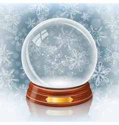 Snowy glass ball vector
