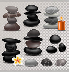 Spa stone zen stony therapy for beauty vector