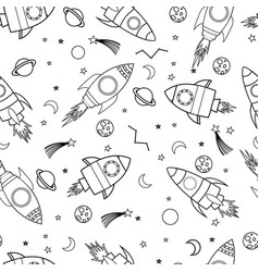 space seamless pattern print design vector image