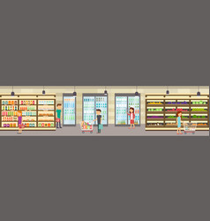 supermarket store with goods vector image