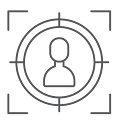 target thin line icon focus and targeting aim vector image
