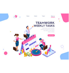 Tasks schedule week concept vector