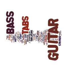 The art behind bass guitar tabs text background vector