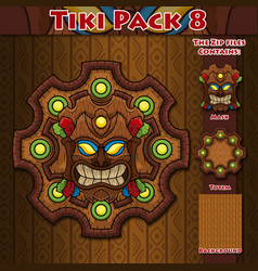 Tiki pack 8 vector