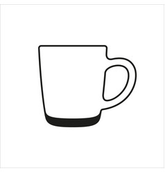 Transparent cup icon in simple monochrome style vector