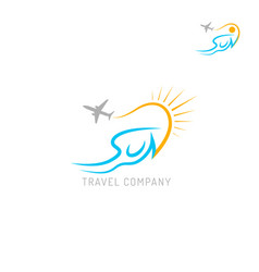 Travel agency logo isolated on white background vector