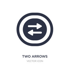Two arrows pointing right and left icon on white vector