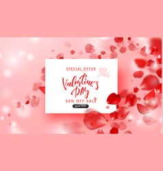 valentine s day sale background top view on vector image