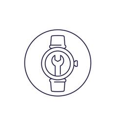 Watch repair line icon vector