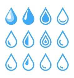 Water Drop Emblem Logo Template Icon Set vector