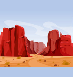 Wild west texas desert vector
