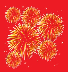 yellow fireworks vector image