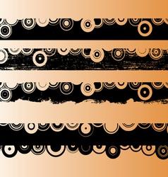 4 Black Grunge Strips 2 vector image vector image