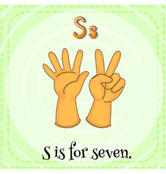 A letter S for seven vector image
