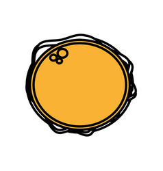Burger fast food picnic top view outline vector