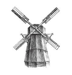 Hand drawn mill vector image vector image