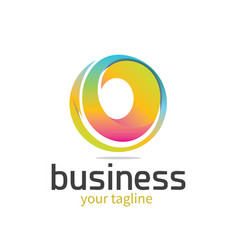 letter o logo arrow vector image