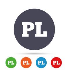 Polish language sign icon pl translation vector