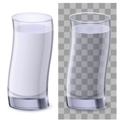 realistic glasses of water on white background vector image