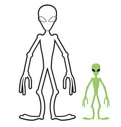 Alien coloring book Humanoid space alien vector image