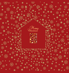 christmas snow background happy winter holiday vector image