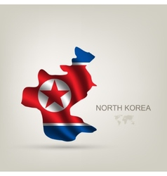 flag of North Korea as a country vector image