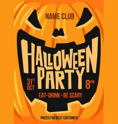 halloween close up pumpkin vector image vector image