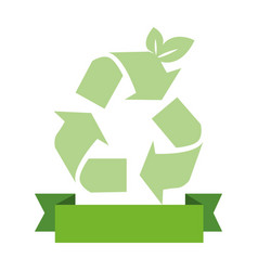 opaque green background with recycling symbol and vector image