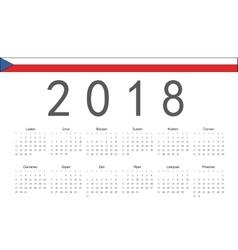 Czech 2018 year calendar vector image vector image
