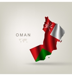 Flag of Oman as a country vector image