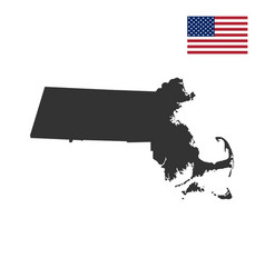 map of the us state massachusett vector image vector image
