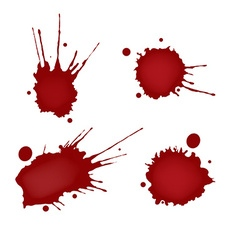 Realistic blood splatters set vector image vector image