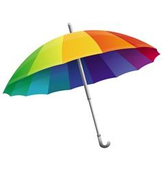 umbrella in rainbow colors vector image