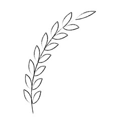 bouquet of leaves vector image