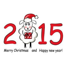 2015 and Sheep vector image
